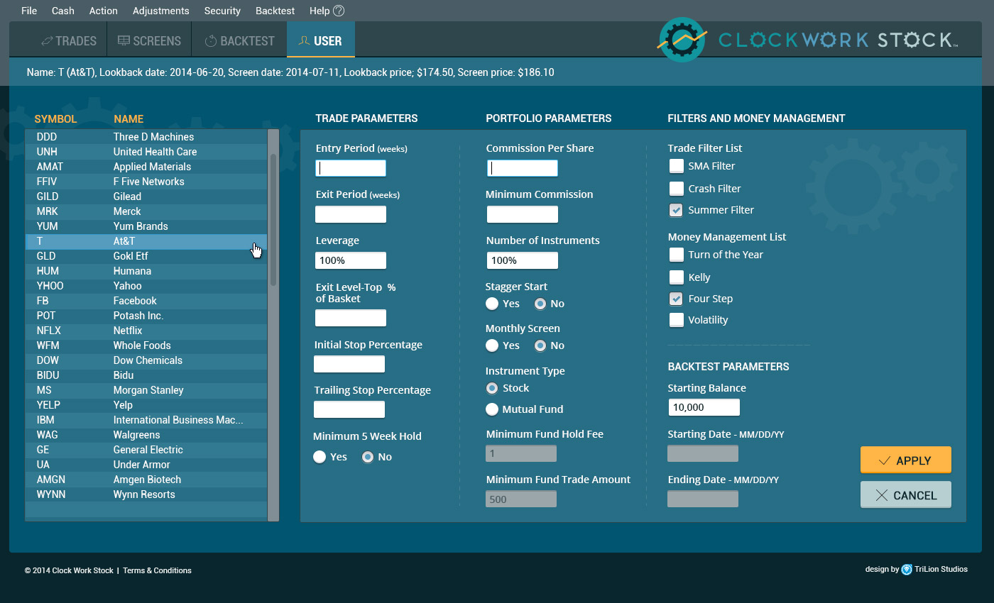 Clockwork Web Application Design